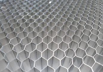 Aluminum honey comb use for automotive composite industry