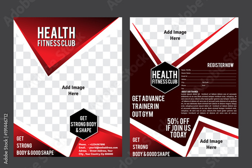 Health Fitness Club Flyer Template