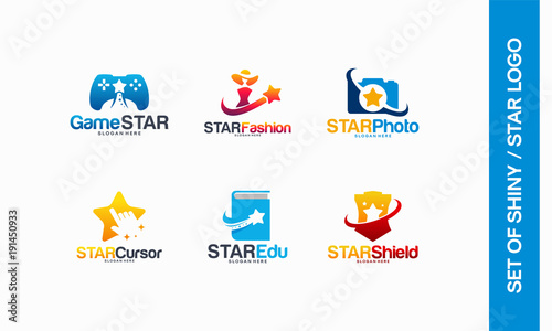Game Star logo, Star Fashion, Star Photography, Cursor logo