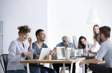 Positive relationships between smiling employees