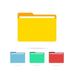 Folder icon vector isolated