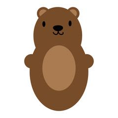 Brown bear toy icon symbol