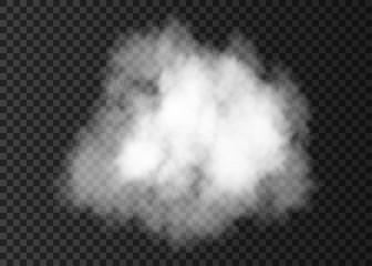 Realistic  white  smoke cloud.