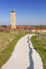 West-Terschelling and Brandaris lighthouse on Terschelling
