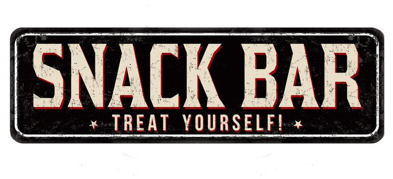 Snack Bar vintage rusty metal sign