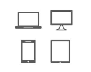 Laptop, desktop, smartphone, tablet screen symbol