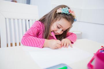 Creative Preschool Child Drawing