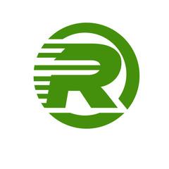 fast letter logo