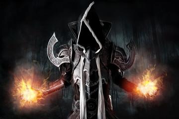 Dark demon cosplay
