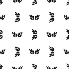 Ornamental seamless floral ethnic black and white pattern Background can be used for surface design, wallpaper, textile, fabric, wrapping, web. Template for design and decoration