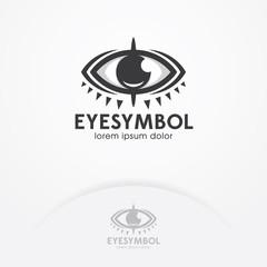 Eye logo design vector template. Eye symbol, emblem design - Vector illustration. Creative vision logotype concept