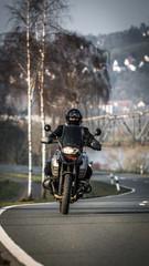 Motorrad fahren im Frühjahr
