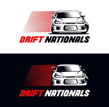 Drift Race Car Vector