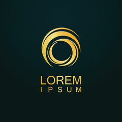 gold circle spin loop logo