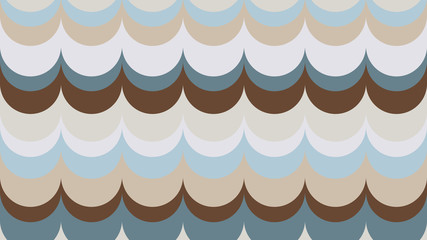 fashionable, wavy, geometric background in shades of Emperador for interior, design, advertising, screensaver, walls. vector pattern