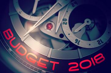 Budget 2018 on Vintage Wrist Watch Mechanism. 3D.
