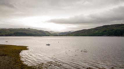 Loch Carron, Highlands, Scotland; aerial view