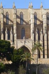 Catedral de Santa María de Palma, capital de la isla española de Mallorca, ciudad turística situada en el oeste del mar Mediterráneo en las Islas Baleares (España)