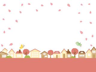 春の街並み