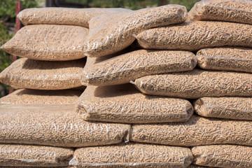 Biomass in plastick bags