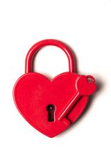 Heart shaped padlock. Valentines day love concept.