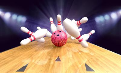 Bowling Ball Pins Strike