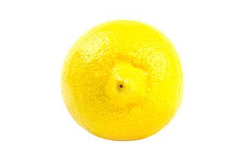 Yellow lemon isolated on white