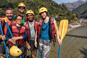 The Triumphant Rafting Team, Trishuli River, Nepal