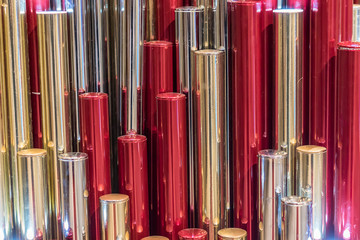 colorful metal pipes background