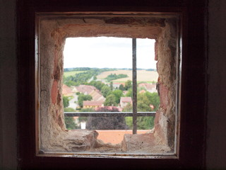 The window in a home of telc