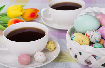 Cup of Coffee and Easter Candy