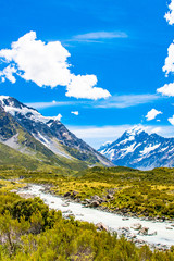 The Hooker Valley Trail, Aoraki Mount Cook, New Zealand