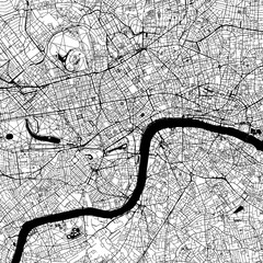 London Downtown Vector Map