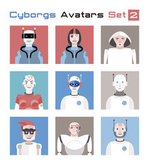 Cyborgs Avatars Set 2