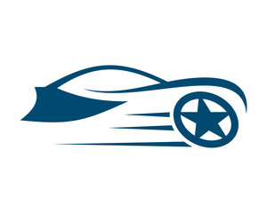 blue star wheel car automotive vehicle dealer drive image vector icon