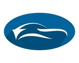 blue silhouette car automotive vehicle dealer drive image vector icon