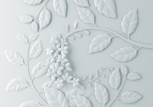 Paper flower craft abstract background.
