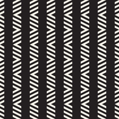 Seamless ethnic lines pattern. Black and white geometric pattern. Vector print for your design.