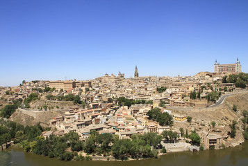 Toledo old city general view. Travel across Spain.