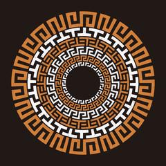 Ancient Greek round meander key
