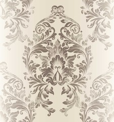 Baroque Damask pattern Vector. Royal fabric background. Luxury texture decors