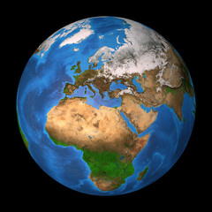 Wall Mural - Planet Earth. Europe, Africa and Asia.