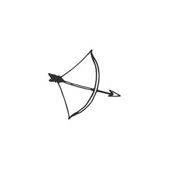 bow for shooting vector draw