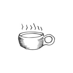 coffee cup vector draw