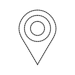 dotted shape location symbol to destination explore travel