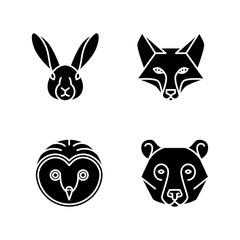 Monoline Animal Faces