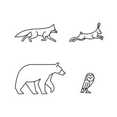 Monoline Animals