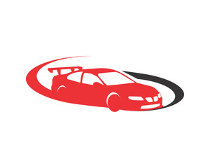 racing car automotive vehicle dealer drive image vector icon