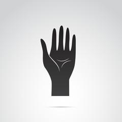 Hand vector icon.