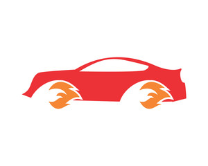 wheel on fire automotive vehicle dealer drive image vector icon